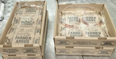 Our burger packs are officially now, 100% compostable. 2 weeks shelf life in the fresh section.