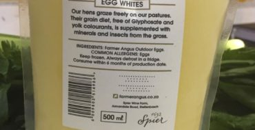 Product of the month. Egg whites.