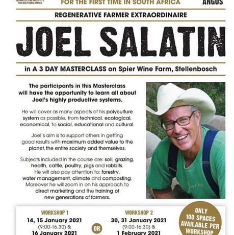 The Pope of regenerative agriculture is coming to South Africa!!!